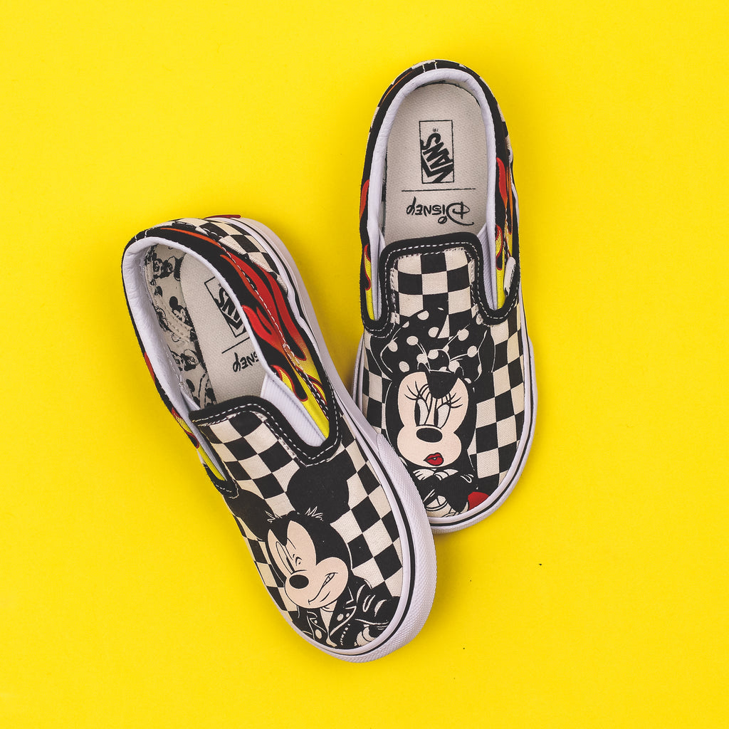 ab784c9e62 Vans TD Classic Slip-On x Disney Mickey Mouse 90th Anniversary Toddlers Kids