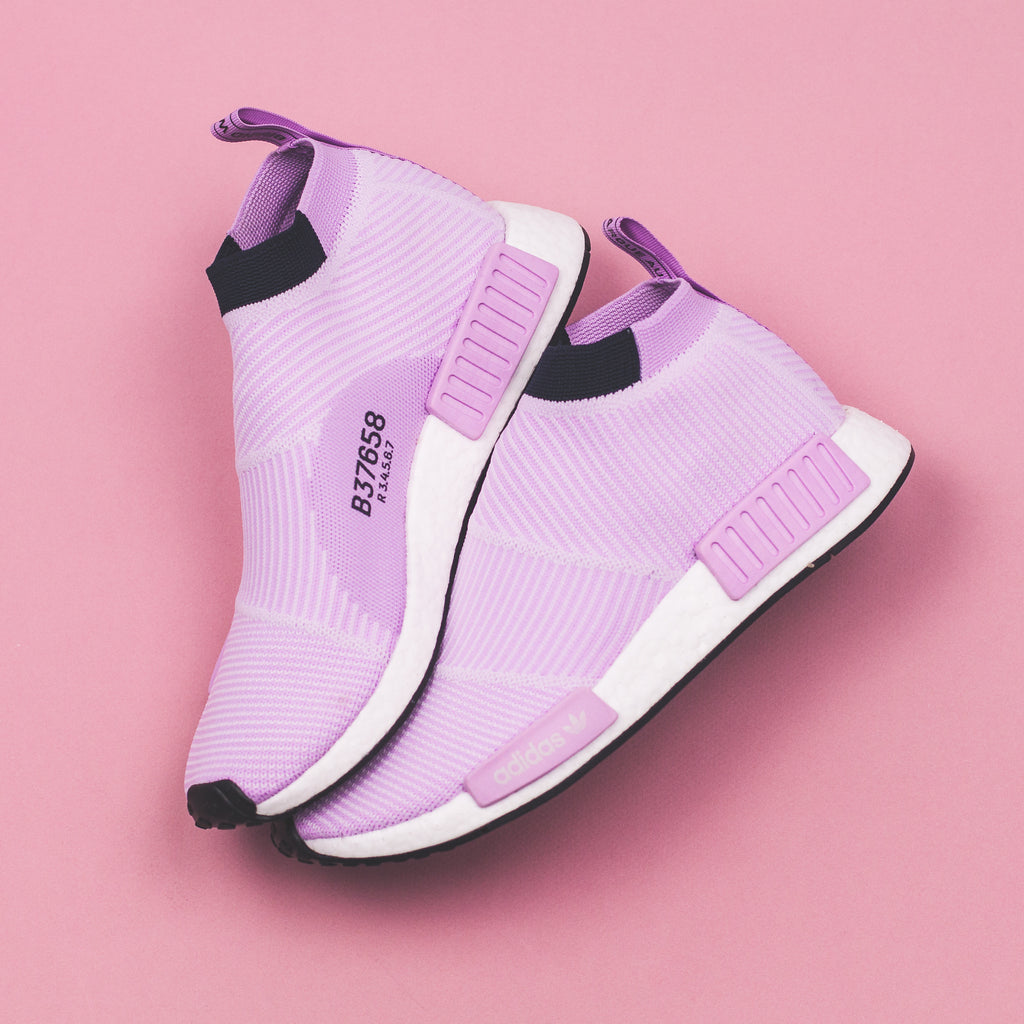 73346c6f26ce5 Adidas Originals NMD CS1 PK Primeknit W Women Boost Clear Lilac - (B37658).  Price   240 CAD. Available Sizing  5-9 US WOMENS. Click Shop Now when the  ...