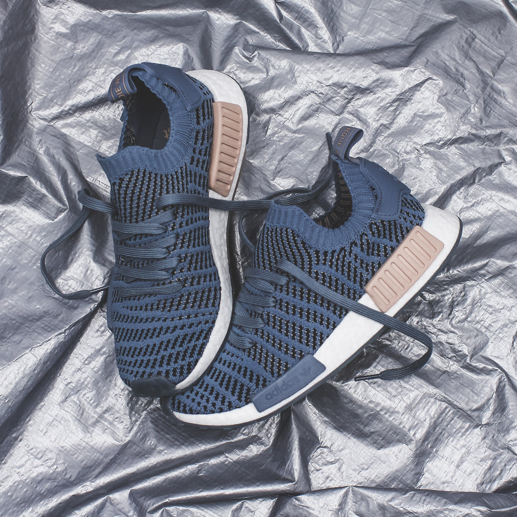 adidas Originals NMD R1 STLT PK Primeknit Boost in Blue/Black- CQ2388/CQ2029