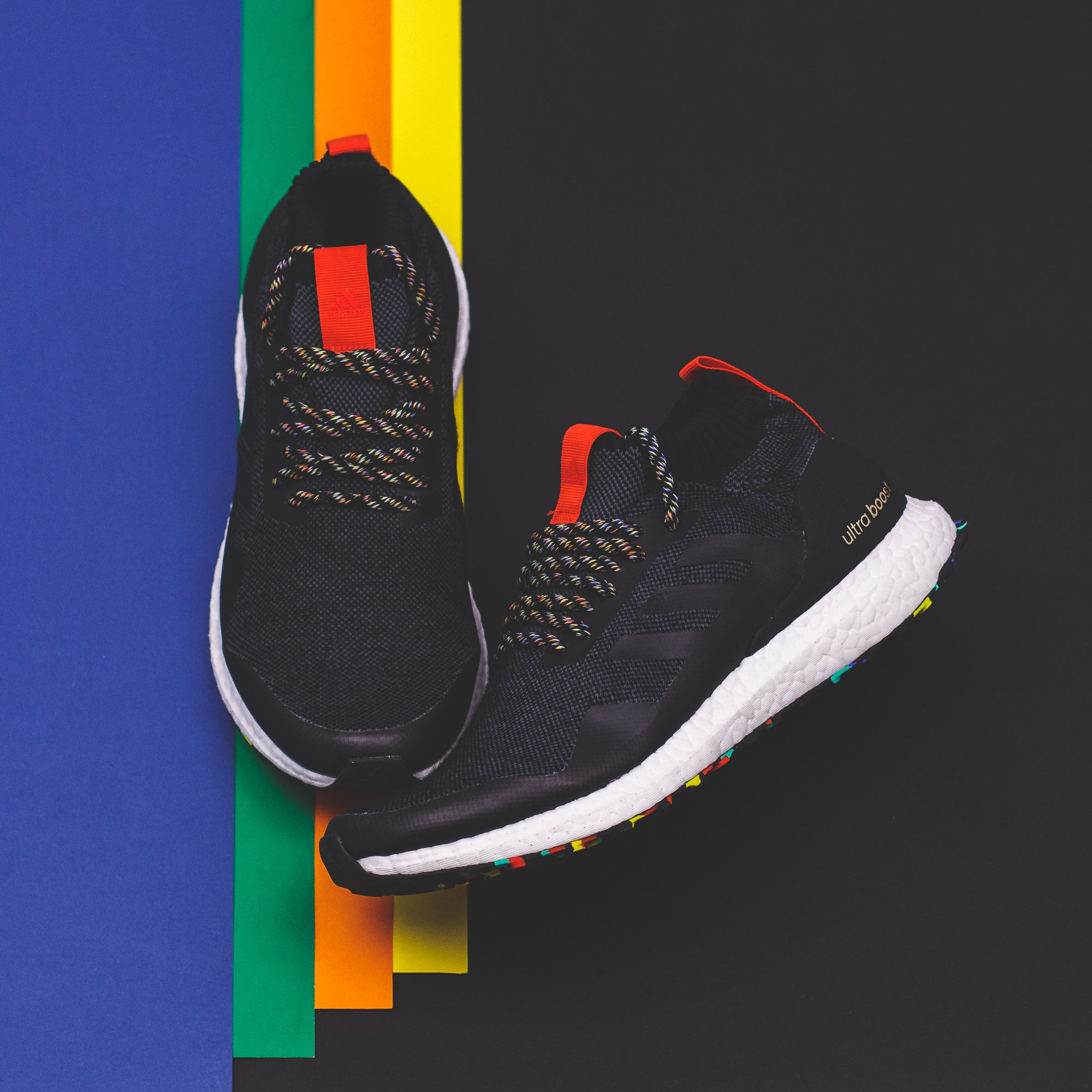 fd714d677381e Adidas Running Ultra Boost Mid Black in Multicolor (G26841 ...