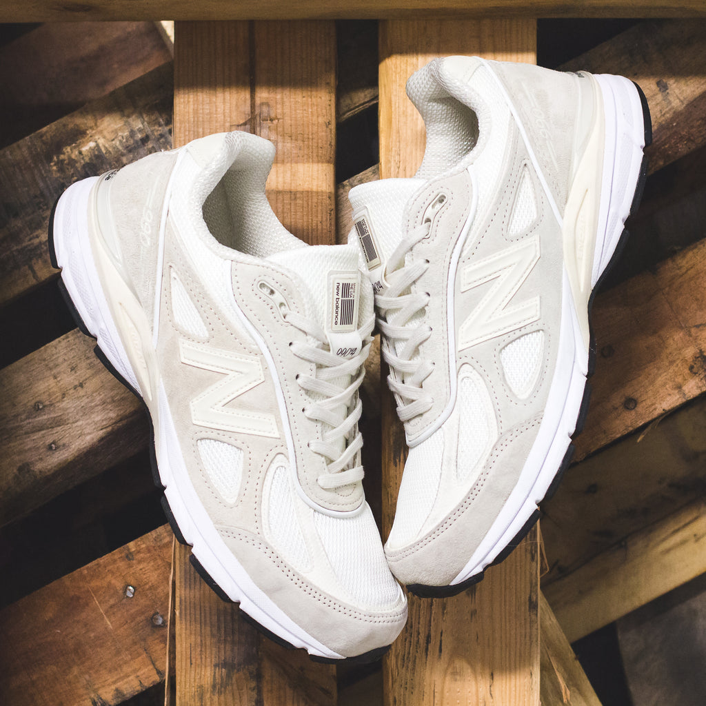 Stussy x New Balance 990V4 in Cream (M990SC4)