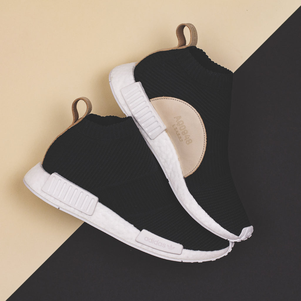 11265a8d5 Adidas Originals NMD CS1 PK Primeknit Boost Night Cargo Tan Leather - ( B37638). Price   240 CAD. Available Sizing  8-12 US MENS. Click Shop Now  when the ...
