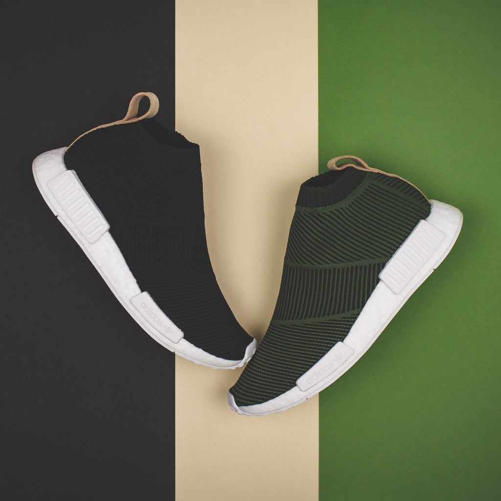 c1d0fbe71c40e Adidas Originals NMD CS1 PK Primeknit Boost Night Cargo Tan Leather - ( B37638). Price   240 CAD. Available Sizing  8-12 US MENS. Click Shop Now  when the ...