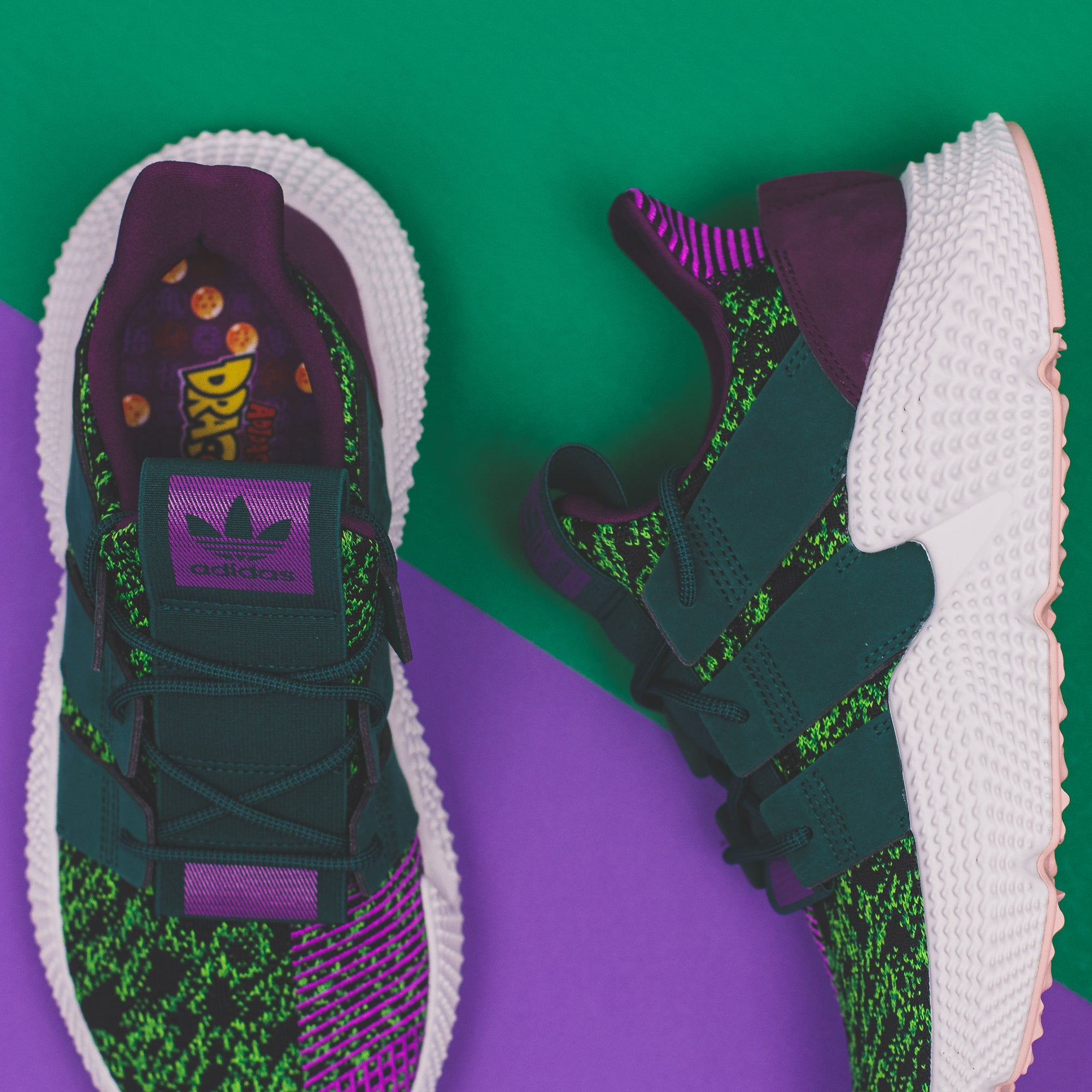 adidas Originals x Dragon Ball Z Cell Prophere in Solar Green/ Collegiate Green/ Core Black (D97053)