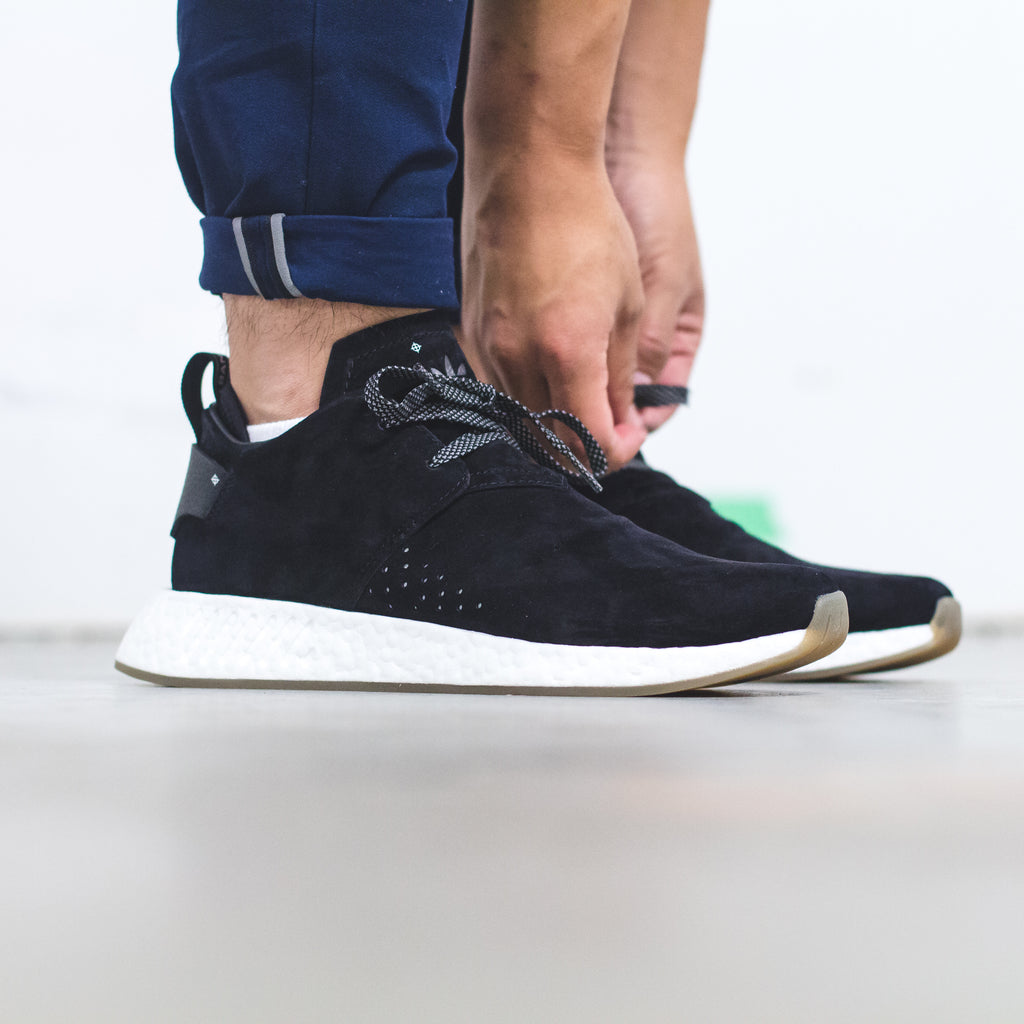 adidas Originals NMD C2 Chukka Pigskin Pack - Core-Black (BY3011) / Simple-Brown (BY9913)