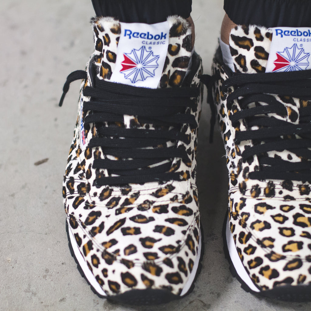 3f48cdba913a5 Click here to purchase the HP x Reebok Snow Leopard sneaker once live on  Solestop.com.