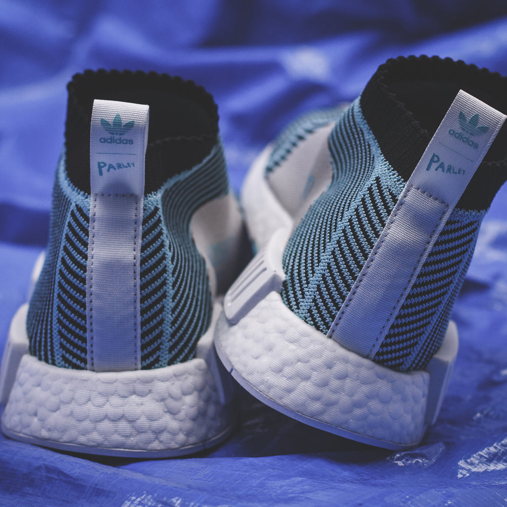 Adidas Boost The Primeknit For Ocean Nmd Cs1 In Bluewhite Parley H2E9ID