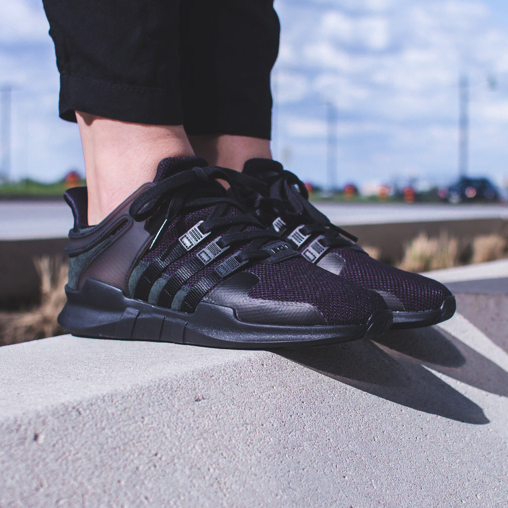 Adidas Originals Womens Equipment Support EQT ADV 91-16 - Purple Glow (BY9109) / Triple-Black (BY9110)