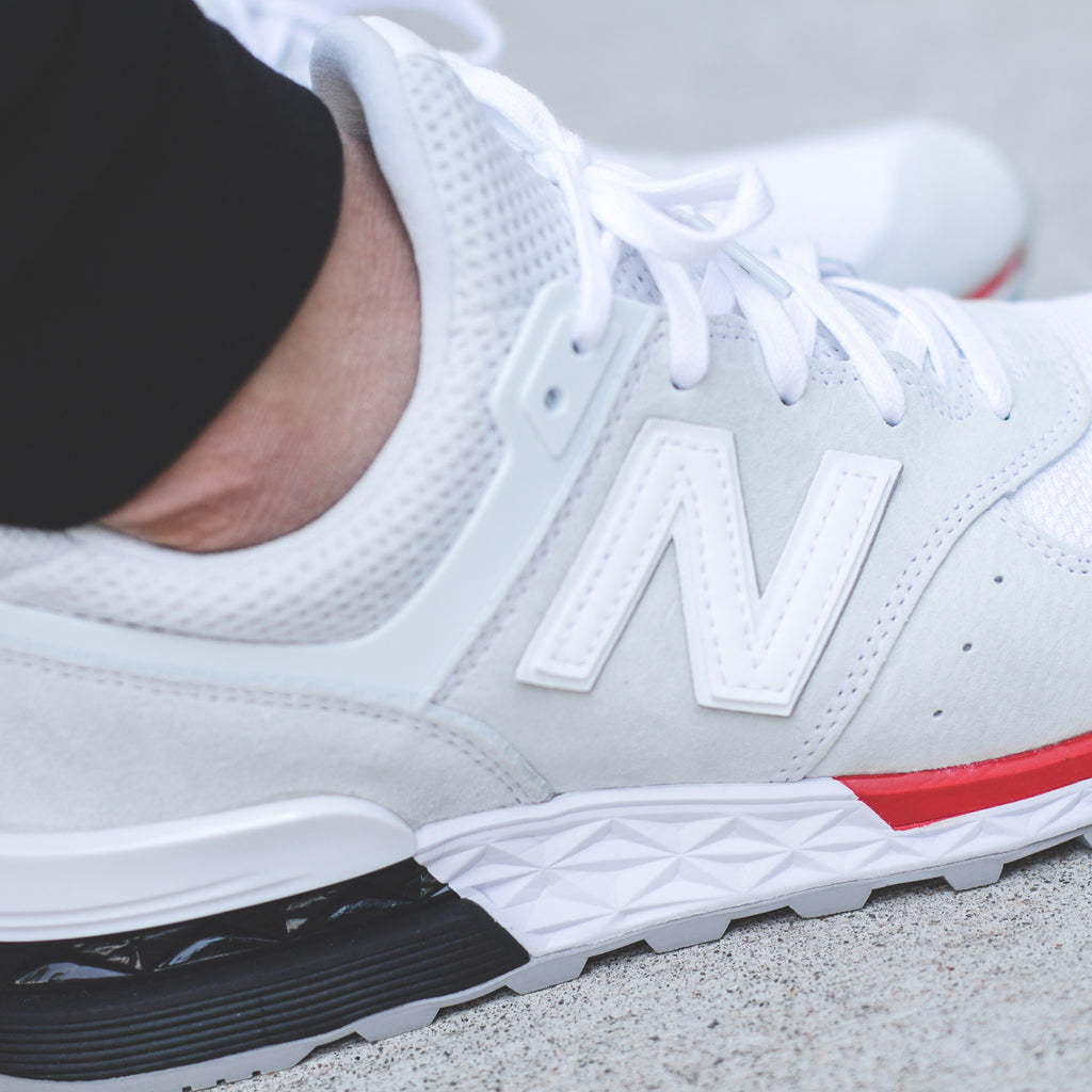 New Balance 574 Fresh Foam - Black/Red (MS574AB) / White/Red (MS574AW)