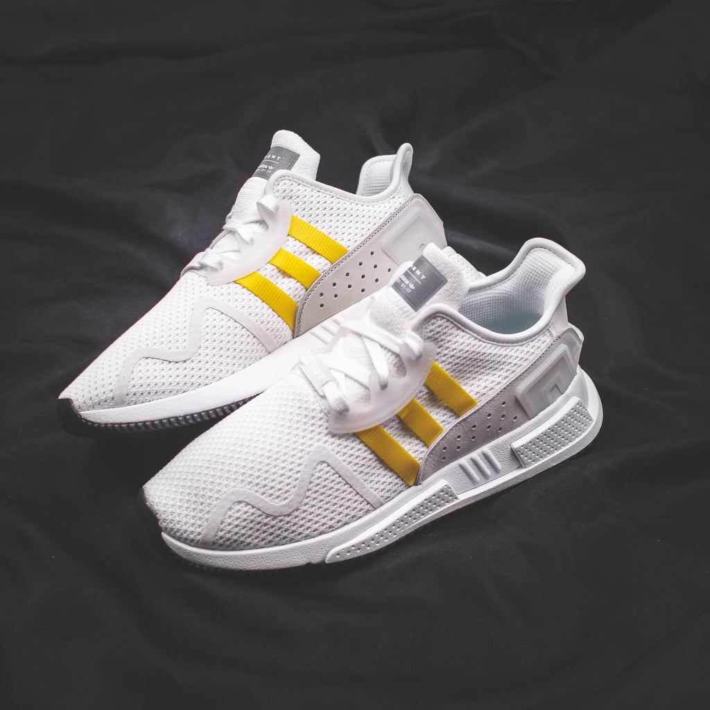 official photos 3fd64 1bb13 Adidas Originals EQT Support Mid ADV PK Primeknit BlackYellow Stripes - ( CQ2999)