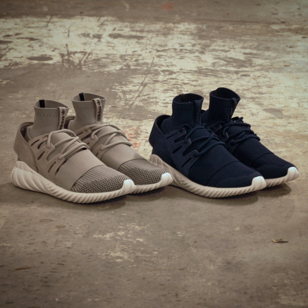 Adidas Originals Tubular Doom Primeknit in Grey Scale S80102/ Navy S80103