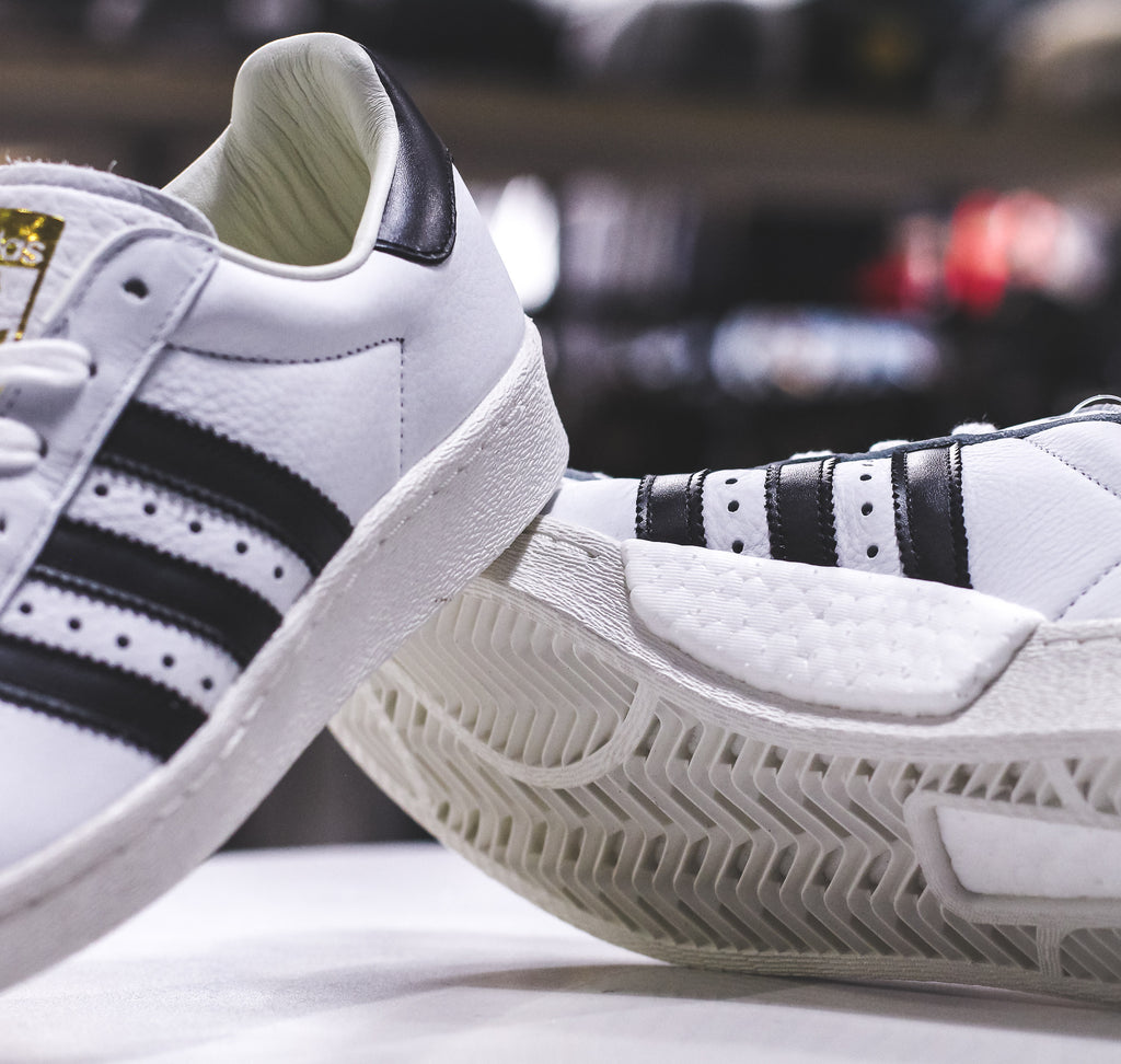 NEW Adidas Originals Superstar Boost Core White Men's Size 6 Women's Size 8