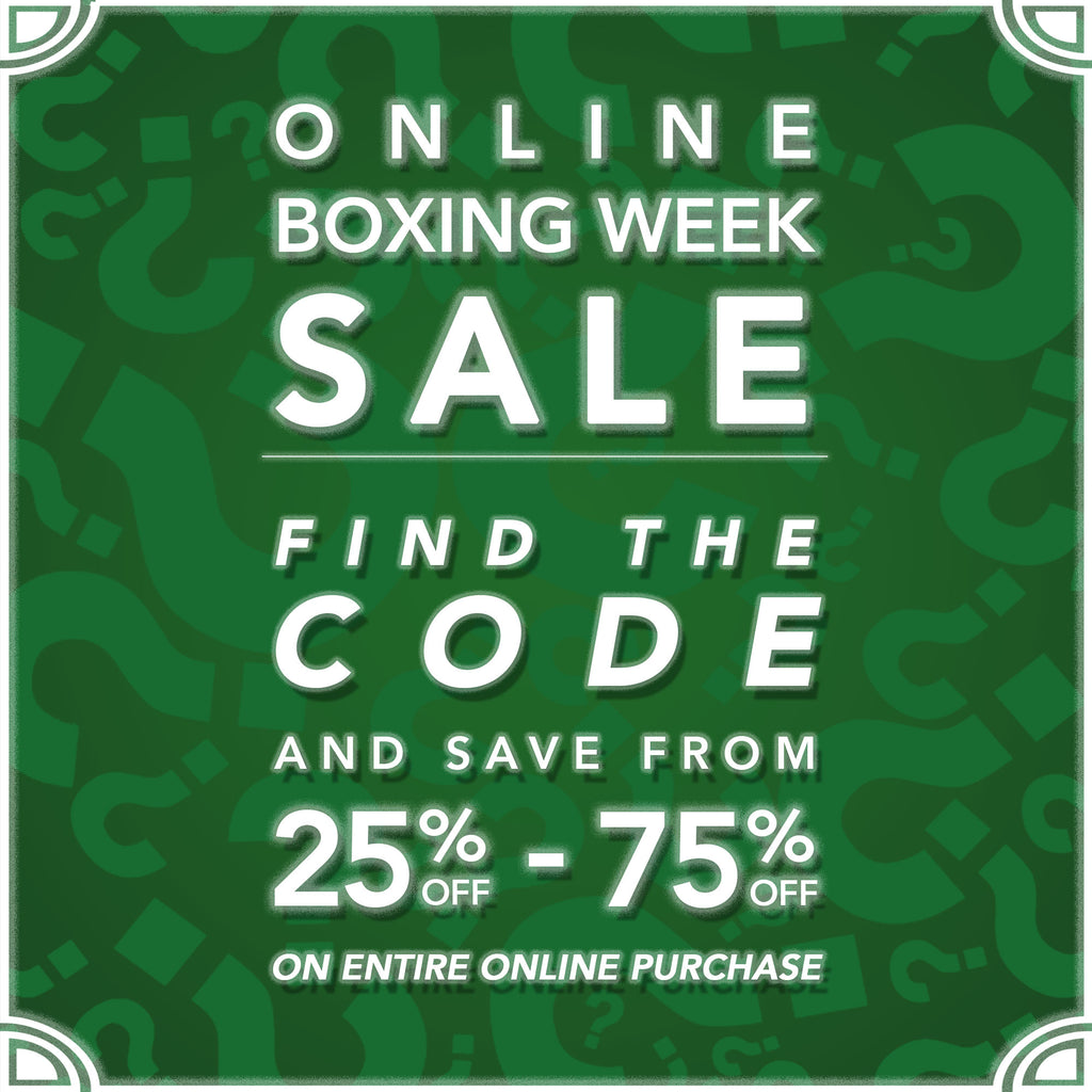 Solestop Boxing Week Sale! Online Holiday Treasure Hunt Promo Codes!