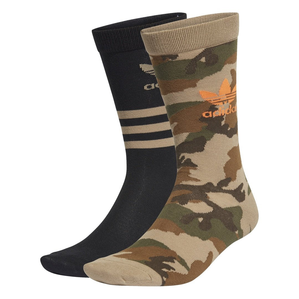 ACCESSORIES - Adidas Originals Camo Crew Sock Hemp Black GD3567