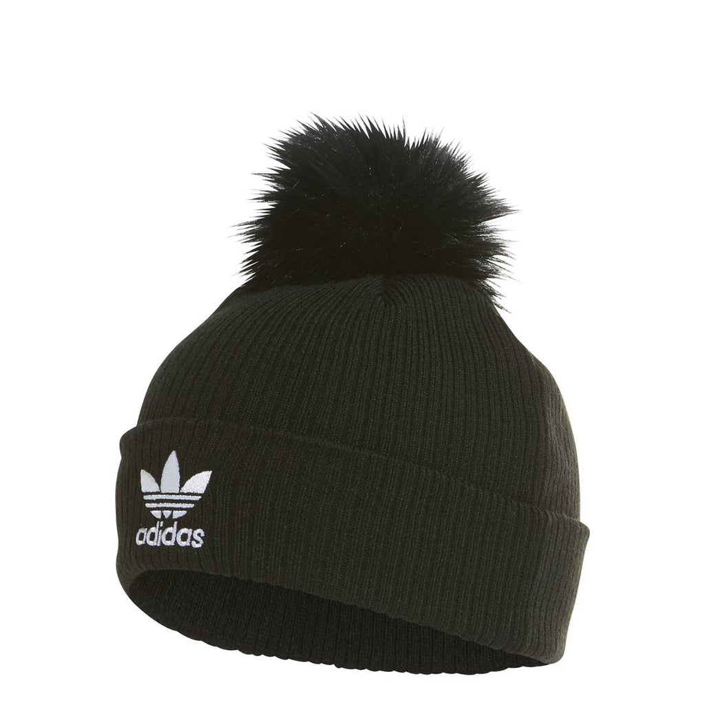 HEADWEAR - Adidas Originals Fur Pom Beanie Black ED4723