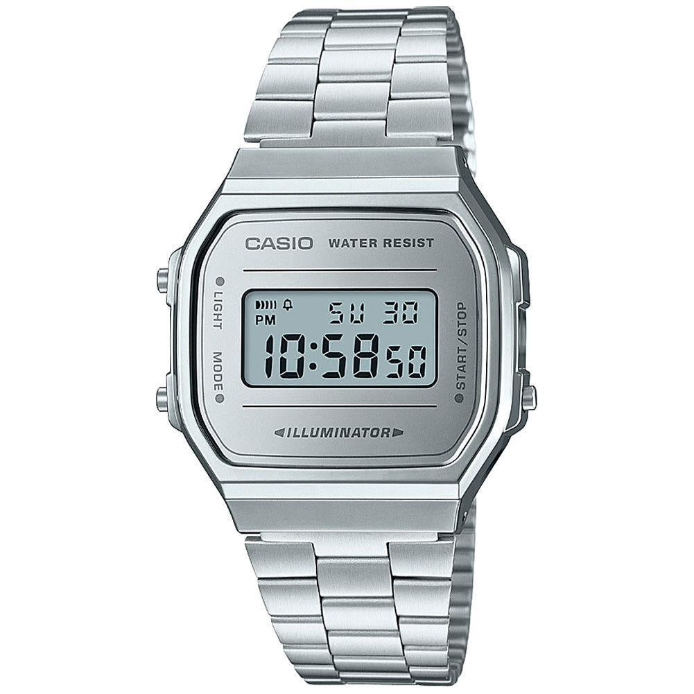 Casio Vintage Collection Silver White Digital Retro Watch A168WEM-7VT - ACCESSORIES - Solestop.com - Canada