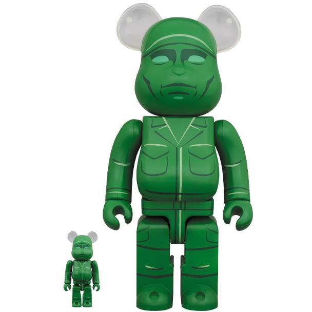 COLLECTIBLES - Medicom Japan Green Army Men Toy Story 4 400% & 100% Bearbrick SEP198594I