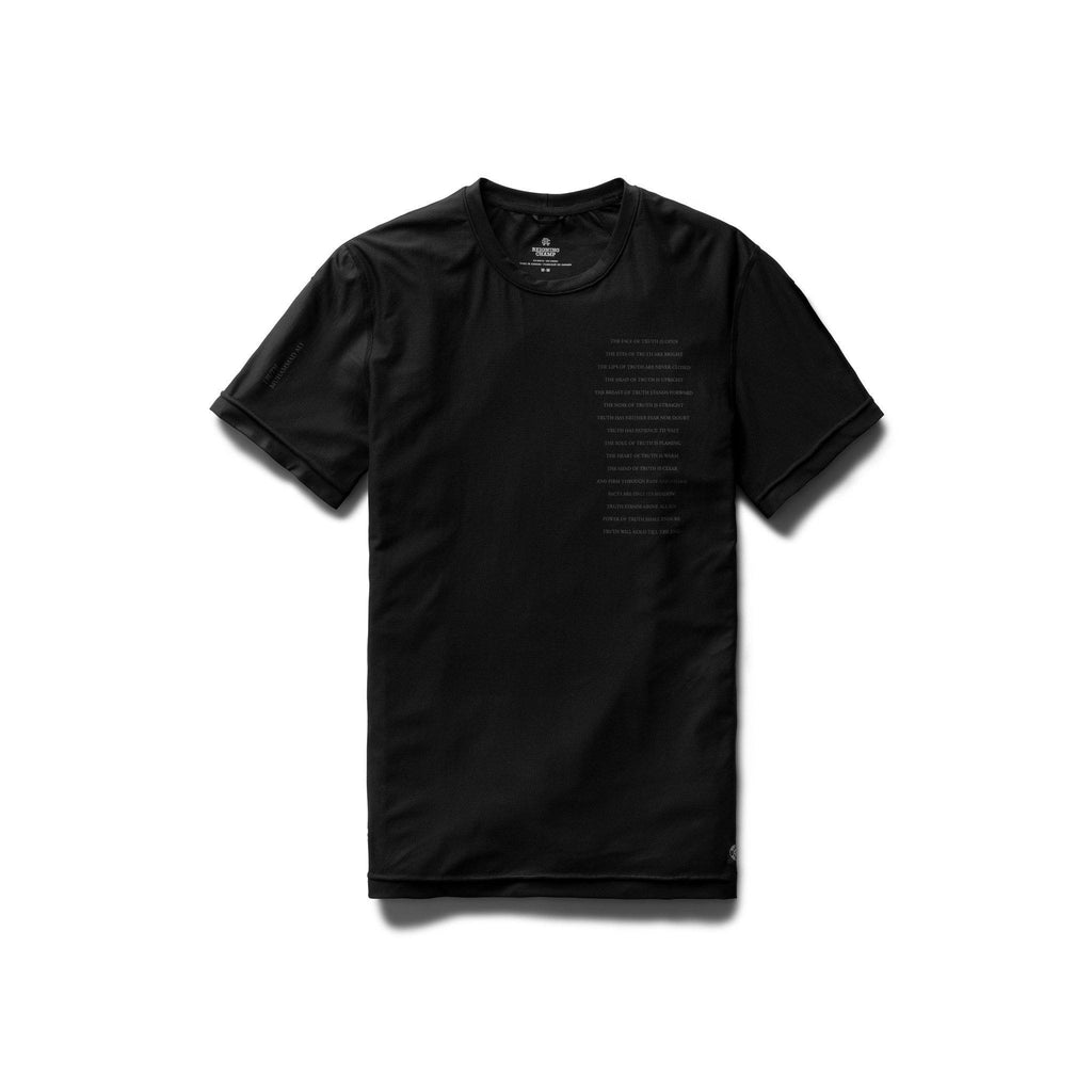 TOPS - Reigning Champ Men Knit Performance Jersey Muhammad Ali Training Shirt Black RC-1243-BLK