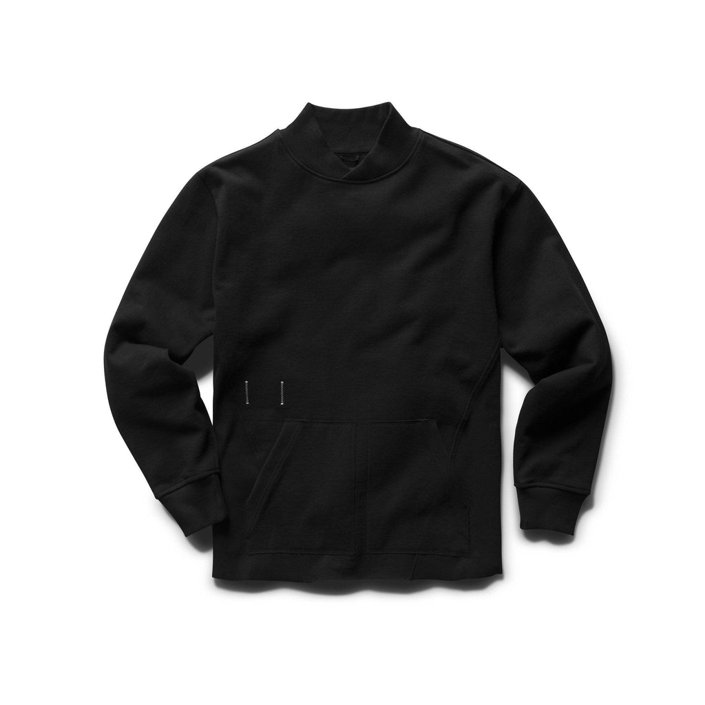 SWEATERS - Reigning Champ X Jide Osifeso Heavy Weight Terry Collared Sweatshirt Black Men RC-3629-BLK