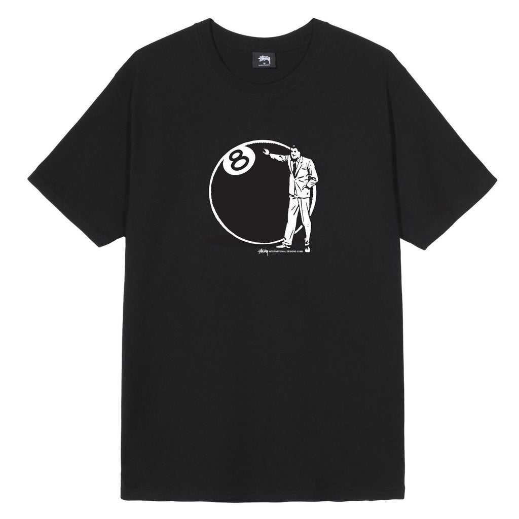 T-SHIRTS - Stussy Men 8 Ball Man Tee Black 1904534-BLAC