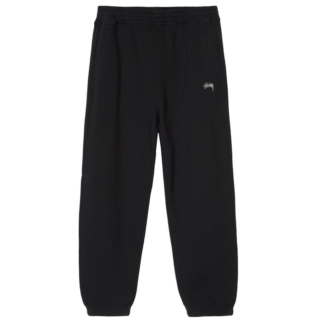 Stussy Men Stock Logo Pant Black Core 116431-BLAC - BOTTOMS - Canada