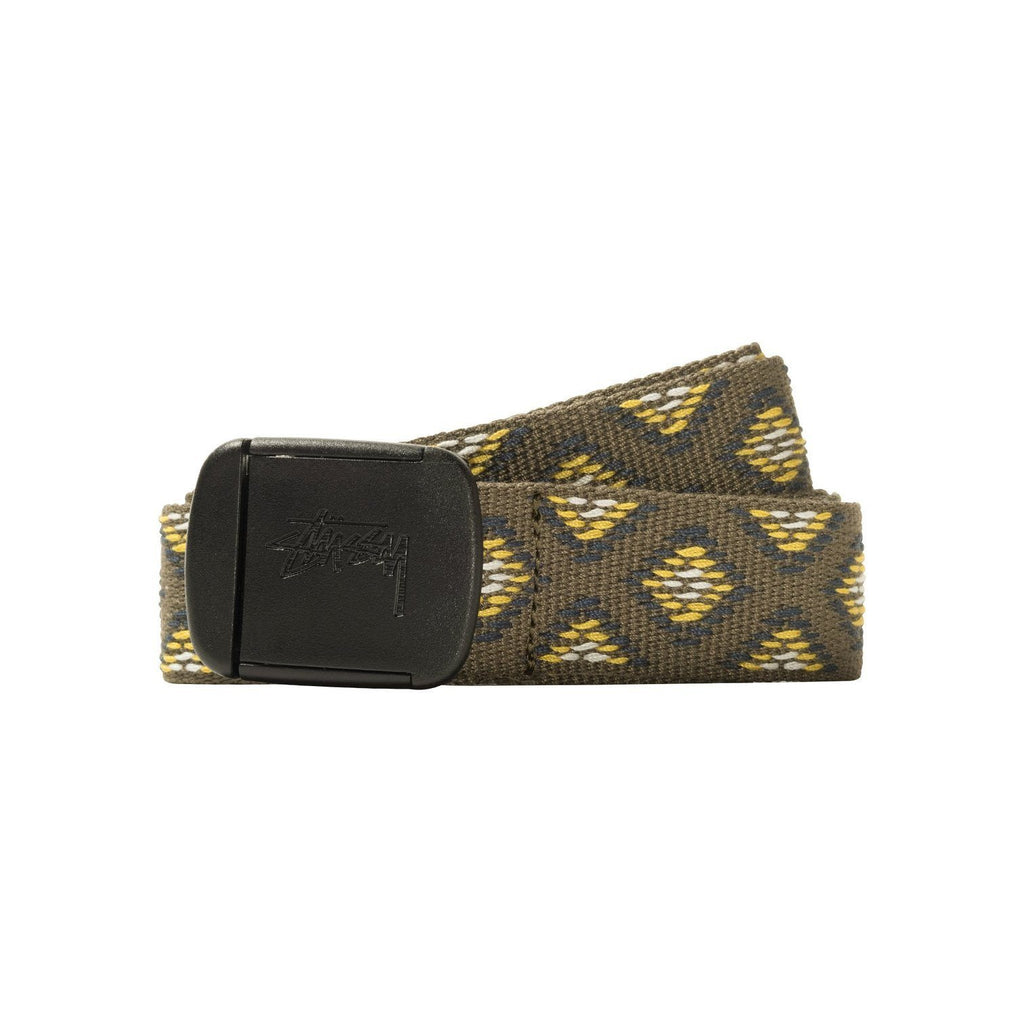 ACCESSORIES - Stussy Woven Travel Belt Olive 135171-OLIV