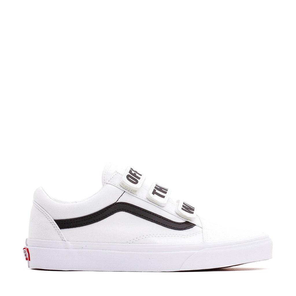 Vans Men UA Old Skool Velcro Off The Wall White VN0A3D29R2Q - FOOTWEAR - Solestop.com - Canada