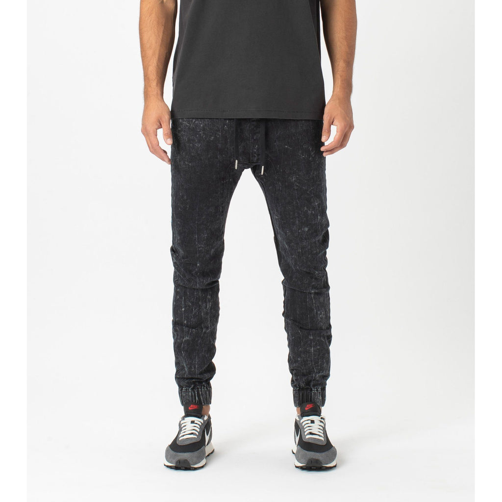 BOTTOMS - Zanerobe Men Sureshot Denim Jogger Salt Black 705-STA