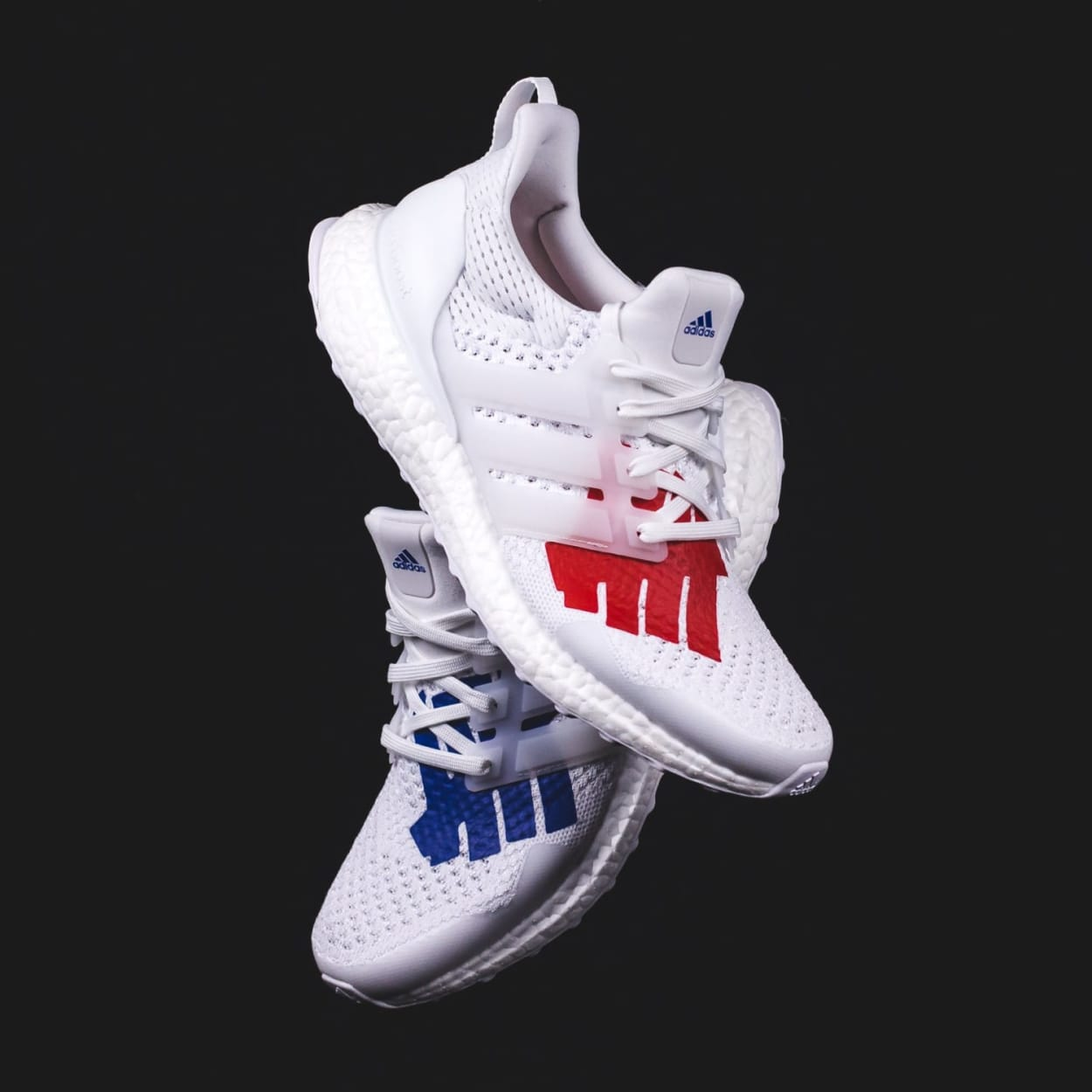 Adidas Running Ultraboost x Undefeated White Blue Red Men EF1968