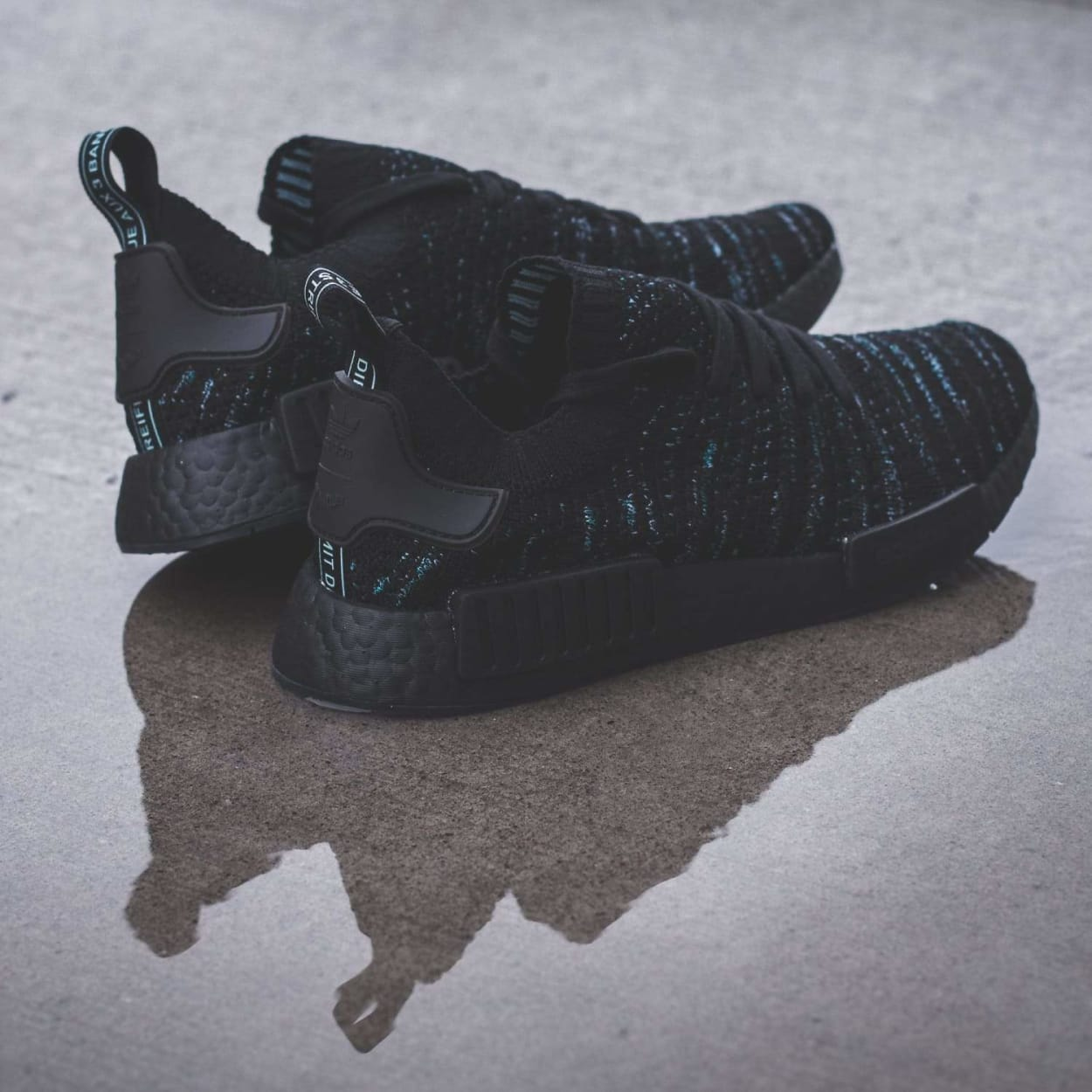 Parley for the Oceans x adidas Originals NMD STLT PK in Core Black - (AQ0943)