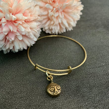 Load image into Gallery viewer, bandele - brass adjustable charm bangles
