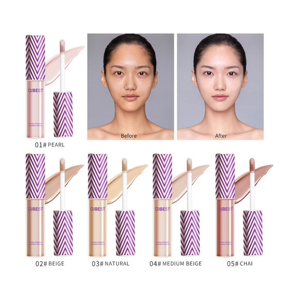 New Upgraded Natural Concealer Concealer Anti-watercolor Makeup Facial Eye Dark Circles Repair Pores Acne Full Concealer TSLM2