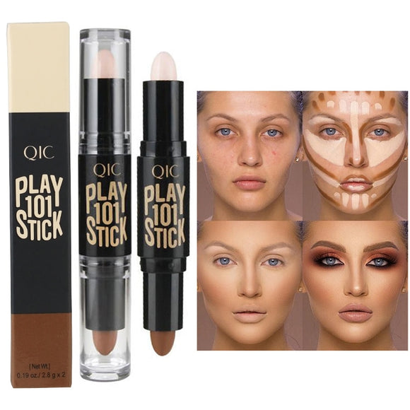 Double-end Concealer Stick Face Makeup Creamy Foundation Pencil Women Cosmetics Facial Make up Highlighter & Contour Creamy Pen