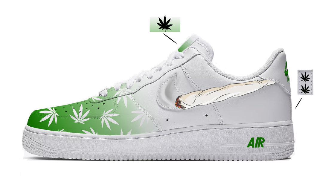 nike air force 1 weed