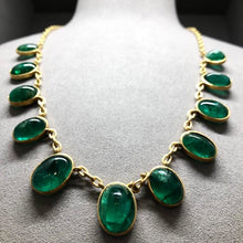 Load image into Gallery viewer, Natural Colombian Emerald Necklace