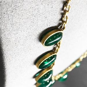 Natural Colombian Emerald Necklace
