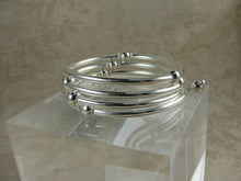 Load image into Gallery viewer, Silver Bead Wrap Bracelet