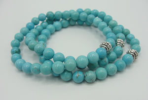 Set of Three turquoise Stretch Bracelets