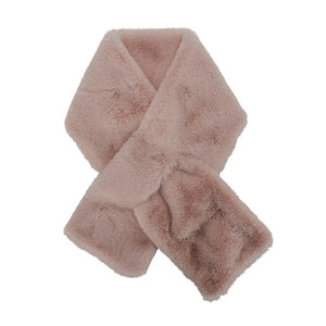 Tan, Pink & Olive Faux Fur | Neck Wrap