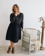 Load image into Gallery viewer, Away Knit Dress | Charcoal