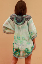 Load image into Gallery viewer, Emerald Green Chiffon Bohemian | Kaftan