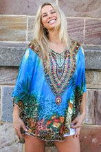 Load image into Gallery viewer, Coral Seas Chiffon Bohemian | Kaftan