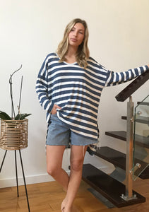 BLUE STRIPE | TOP