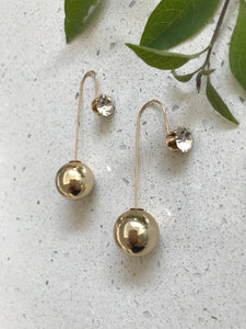 Gold or Pearl Glamour Drop | Earrings