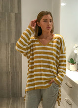 Load image into Gallery viewer, Casual Mustard Stripe | Top