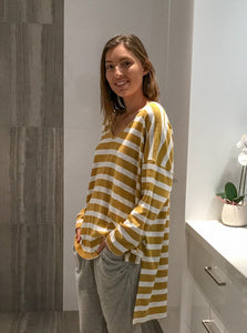 Casual Mustard Stripe | Top