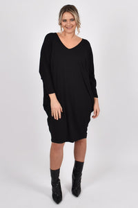 Long Sleeve Black Miracle | Dress
