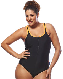 Racer Back Black / Orange Bathers | Swimwear