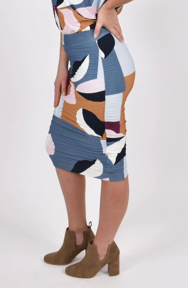 Navy Leaf Ruche | Skirt ~ LAST ONE!!!