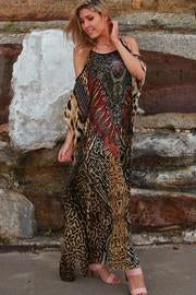 Animal Print Chiffon Boho | Dress